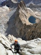 Rock Climbing Photo: Erik Harz coming up the loose P6 of the Beckey-Ree...