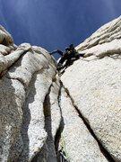 Rock Climbing Photo: Erik Harz leading the excellent P7 stemming corner...