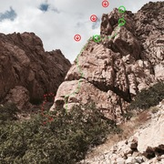 Rock Climbing Photo: Air to spare bottom three pitches. Rap west 3x100'...