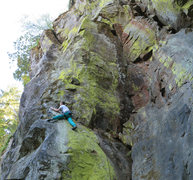 Rock Climbing Photo: There's about a four foot section at the end of th...
