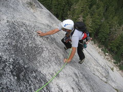 Rock Climbing Photo: Dave Mahler on the short 5.8 face section at the e...
