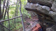 Rock Climbing Photo: Approach Shoe traverse's first part.