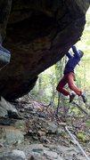 Rock Climbing Photo: Approach Shoe traverse perspective shot.
