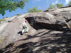 Rock Climbing Photo: RW on P1 of Webster's Way