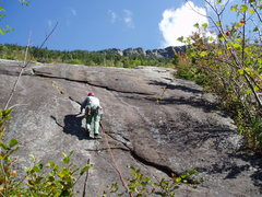 Rock Climbing Photo: Starting P2 of Daniel Webster Highway