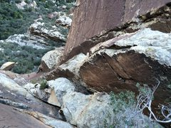 Rock Climbing Photo: Leslie on P2 short but thought provoking corner be...