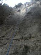 "Rock Climbing Photo: Lexi in ""la grotta"" following Will's lea..."