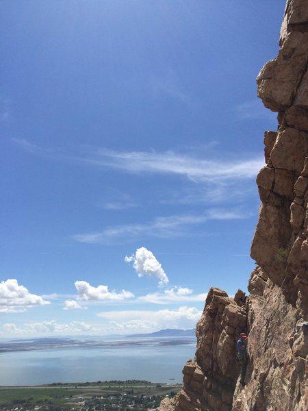 Rock Climbing Photo: TDA pitch 1. Nice views.