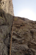 Rock Climbing Photo: 5.10 var above P2 roof.