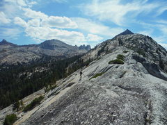 Rock Climbing Photo: After topping out on the ridge, go up the ridge ab...