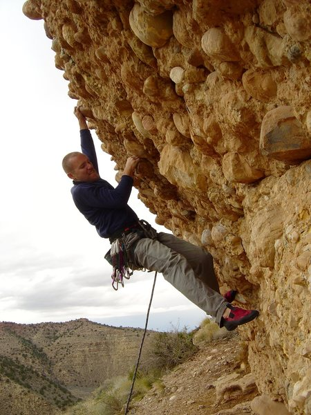 Rock Climbing Photo: The steep, cobbled routes at Parowan