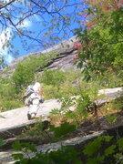 Rock Climbing Photo: P1 Near the left-rising crack
