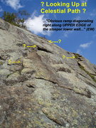 Rock Climbing Photo: ?Celestial Path? - Looking Up and Right from the e...