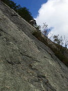 Rock Climbing Photo: P4 - climbing the clean white slab near the end of...