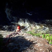 Rock Climbing Photo: Angie on Empty Nest