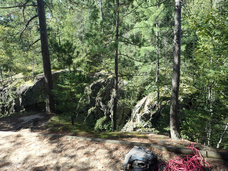 Rock Climbing Photo: The trees along the trail to set up your anchor. T...