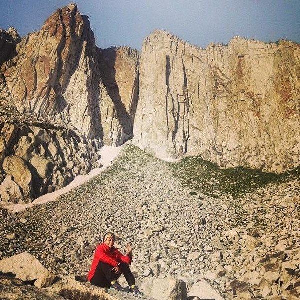 Sitting in Lone Peak Cirque. Utah