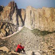 Rock Climbing Photo: Sitting in Lone Peak Cirque. Utah