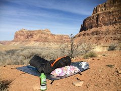 Rock Climbing Photo: -32 bag, no tent, down pillow. Thats my favorite w...