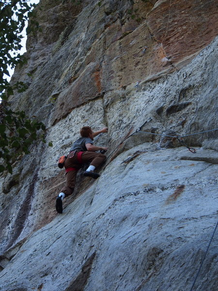 Independence - Jimmy Young starts the crux sequence