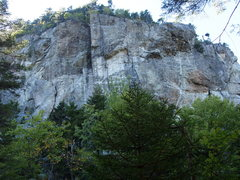 Rock Climbing Photo: Wild River Crag - from trail just above where the ...