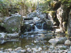 Rock Climbing Photo: Beautiful falls and pool where the HIKING trail cr...