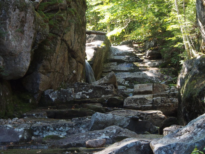 """Off the hiking trail, a little upstream of the first """"falls & pool"""" photo. (still below the cliff turn-off)"""