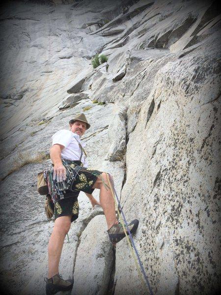 Costumed ascent of The Grack - Center