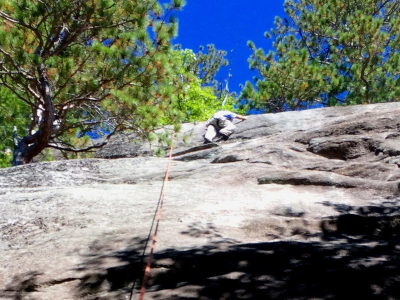 Rock Climbing Photo: The Upper Crack of the Flake Route