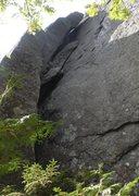 Rock Climbing Photo: P2 chimney.