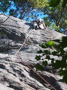 "Rock Climbing Photo: On ""The Flake's"" upper crack"