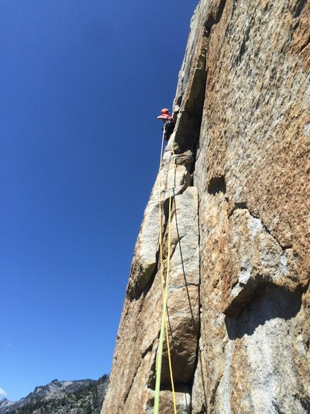 Kevin on the 5.11 C1 pitch