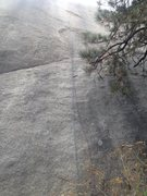 Rock Climbing Photo: A good view of the bottom of the route with a rope...