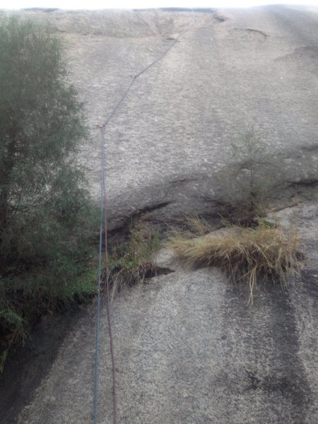 Rock Climbing Photo: The rope is on the route, showing the bottom.