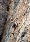 Rock Climbing Photo: Big D chalking up