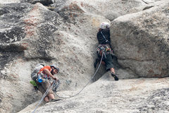 Rock Climbing Photo: first pitch anchors