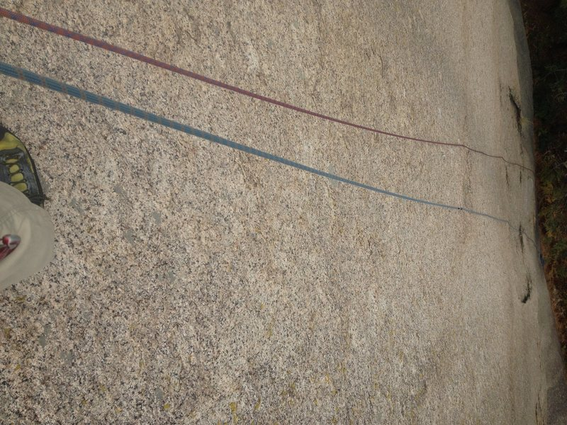 Rock Climbing Photo: Looking down Straight-No Chaser.
