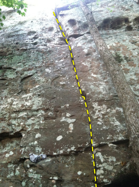 5.7 Crack near Shadow of A Man area. Does anyone know the history on this one?