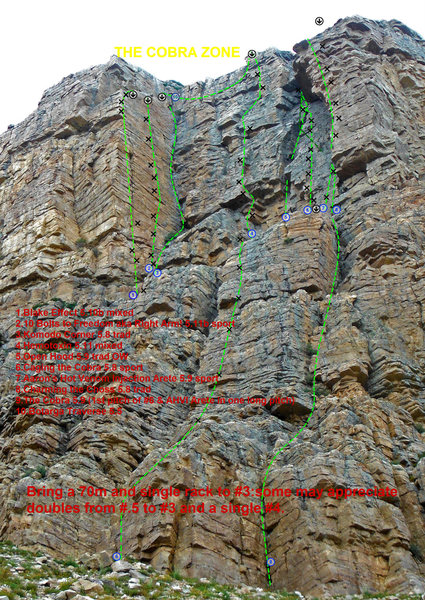 Rock Climbing Photo: Bolt placements on topo are approximate