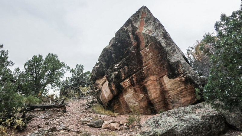 Rock Climbing Photo: The north face of Ute Rock.  I am not sure of what...