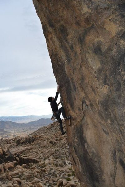 Rock Climbing Photo: Andy Litak climbing up the arete near the third bo...