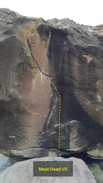 Rock Climbing Photo: Meat Head V0