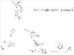 Rock Climbing Photo: Beta sketch map of the Highlands (lower portion).