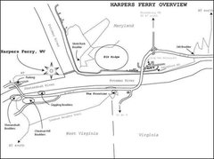 Rock Climbing Photo: Overview sketch map of Harpers Ferry bouldering ar...
