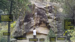 Rock Climbing Photo: Warm-up Boulder L->R Road to Nowhere V0 Riversi...