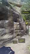 Rock Climbing Photo: Downclimb Left V3 V1 V1