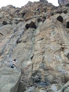 Rock Climbing Photo: Keep it together above good gear for the tricky fi...