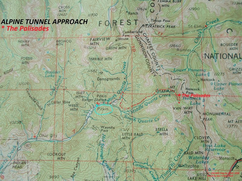 Rock Climbing Photo: Approach map.