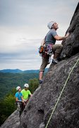 Rock Climbing Photo: 2nd pitch of the Nose on Looking Glass NC