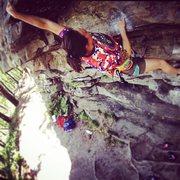 Rock Climbing Photo: Start to Herculean Test Pilot Mountain NC